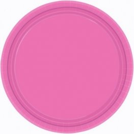 Bright Pink Paper Plates 20pk