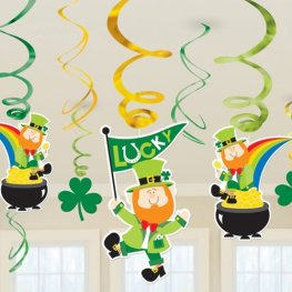 St Patricks Day Swirl Pack Decoration