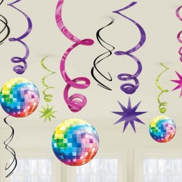 70s Disco Swirls Decoration