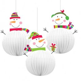 Joyful Snowman 3D Hanging Decoration