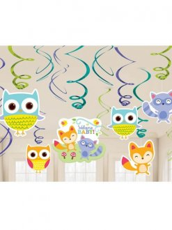 Woodland Welcome Swirl Decorations 12pk