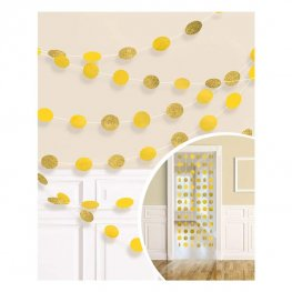 Sunshine Yellow Glitter String Decorations