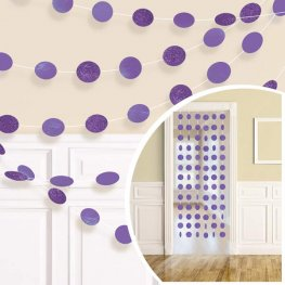 Purple Glitter String Decorations
