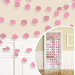 New Pink Glitter String Decorations