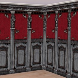Gothic Mansion Room Roll Decoration x2