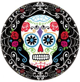 Day Of The Dead Paper Plates 18pk