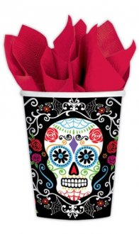 Day Of The Dead Paper Cups 18pk