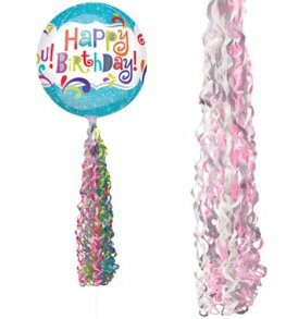 Pink Coloured Twirlz Balloon Tails