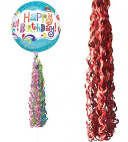 Red Coloured Twirlz Balloon Tails