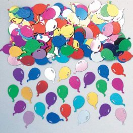 Balloons Multi Embossed Metallic Confetti