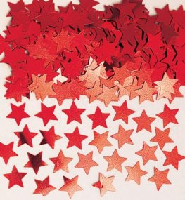 Red Stardust Metallic Confetti