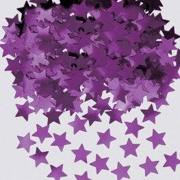 Purple Stardust Metallic Confetti
