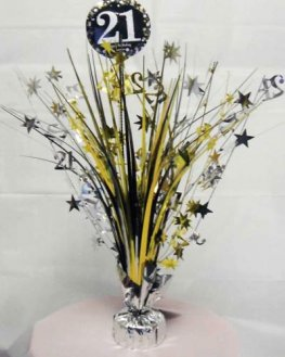 Gold Celebration 21st Centrepiece Spray 1pk