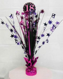 Pink Celebration 18th Centrepiece Spray 1pk