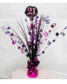 Pink Celebration 21st Centrepiece Spray 1pk