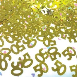 50th Gold Confetti
