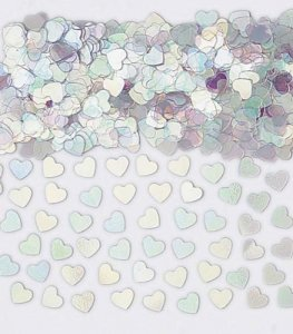 Iridescent Sparkle Hearts Metallic Confetti