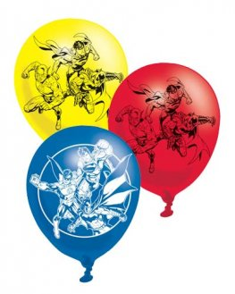 "11"" Justice League Latex Balloons 6pk"