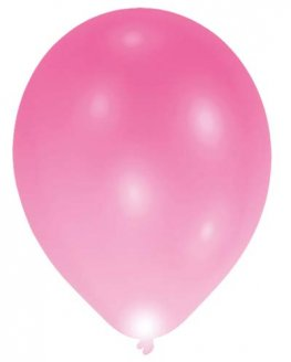 "11"" Pink LED Light Balloons 5pk"