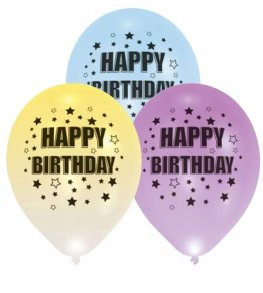 "11"" Happy Birthday LED Light Balloons 4pk"