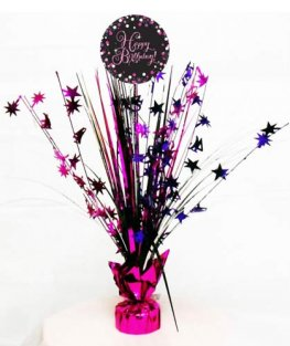 Happy Birthday Pink Celebration Centrepiece Spray 1pk