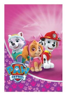 Paw Patrol Pink Party Loot Bags 8pk