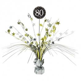 Gold Celebration 80th Centrepiece Spray 1pk