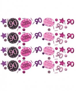 Pink Celebration 90th Confetti