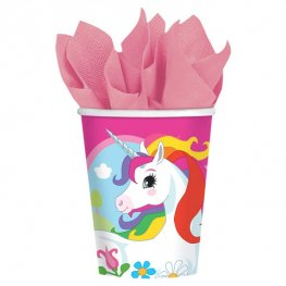Unicorn Paper Cups 8pk