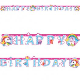 Unicorn Birthday Letter Banner