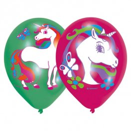 "11"" Unicorn Printed Latex Balloons 6pk"