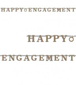 Happy Engagement Prismatic Letter Banner