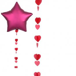 Red Hearts Balloon Tails