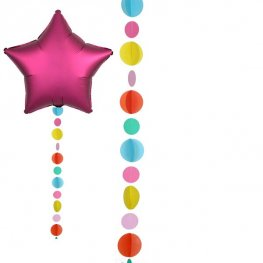 Multicolored Circles Balloon Tails