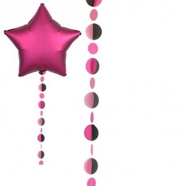 Pink And Black Circles Balloon Tails