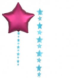 Blue Star Balloon Tails