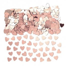 Rose Gold Metallic Hearts Confetti