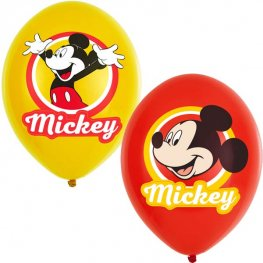 "11"" Mickey Mouse Latex Balloons 6pk"