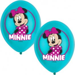 "11"" Minnie Mouse Latex Balloons 6pk"