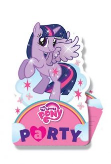 My Little Pony Party Invitations 8pk