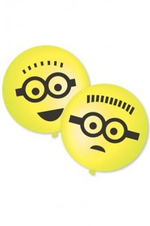 "15"" Minions Punch Ball Latex Balloons 2pk"