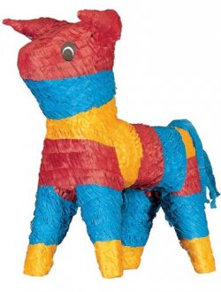 Multi Coloured Bull Pinata