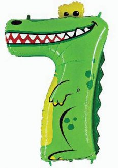 Oaktree Number 7 Crocodile Zooloons Balloons