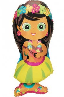 Hula Girl Supershape Balloons