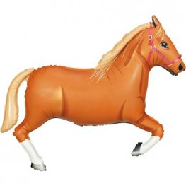 Light Brown Horse Shape Foil Balloons