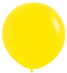 Metallic Citrus Yellow Giant Latex Balloons