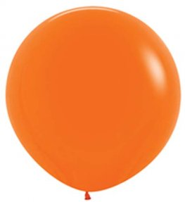 Metallic Bright Orange Giant Latex Balloons