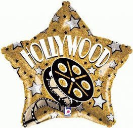"19"" Hollywood Star Foil Balloons"
