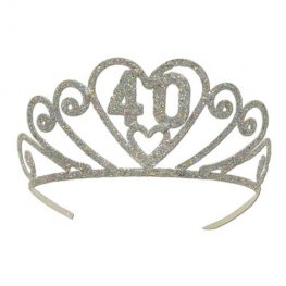 40th Birthday Glitter Tiaras