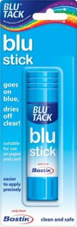 Bostik 8g Blue Glue Stick x30